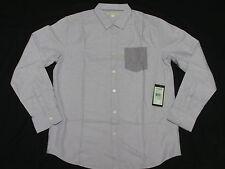 $49 NWT Men Marc Ecko Button Down Shirt Lantana Oxford Woven Purple XXL 2XL M059