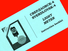 ENGLISH MANUAL for SVERDLOVSK-4 Russian light meter INSTRUCTION BOOKLET NEW!