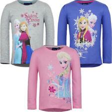 Elsa Langarm Mädchen-T-Shirts & -Tops mit Rundhals-Ausschnitt