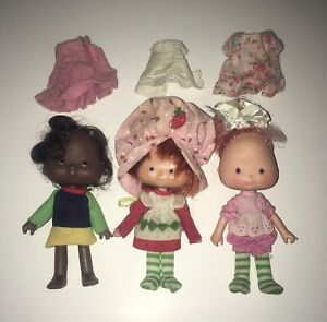 Vintage Strawberry Shortcake Dolls 1979 1981 American Greetings Lot 3