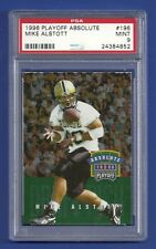 1996 PLAYOFF ABSOLUTE #196 MIKE ALSTOTT ROOKIE RC PSA 9 MINT POP 2 NONE HIGHER