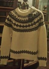 Saint Laurent Paris Fair Isle Sweater w/ Side Zip BNWT