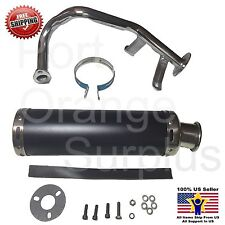 GY-6 QMB 50cc Performance Exhaust GY6 QMB139 4 Stroke Scooter Black Muffler