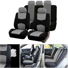 Universal Car Seat Cover Set  Auto 5-Seat Canvas Protector Cushions Headrests