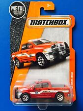 2017 Matchbox 2015 DODGE RAM 1500 SLT UTE Police Special FIRE RESCUE UNIT - mint