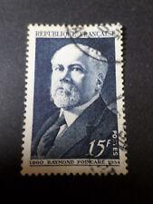 FRANCE 1950 timbre 864, POINCARE', oblitéré, VF STAMP, CELEBRITY