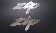 Zip scooter decal stickers X 2 Chrome