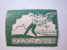 Zajezd C.O.S. do Brna 1914 - Mann mit Adler / Reklamemarke