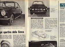 W24 Ritaglio Clipping 1967 Coupe' Simca 1200 S