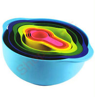 8 PC PIECE MULTI COLOURED MIXING BOWL SET - NEW IN BOX