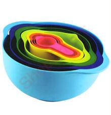 8 PC Piece Multi Coloured Mixing Bowl Set