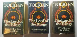 The Lord Of The Rings Trilogy Book Set - Tolkien Unwin - 0048231355 -1970's