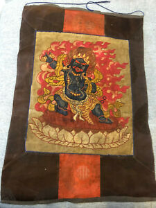 Mongolian ANTIQUE Buddhist OLD APPLIQUE 19c(nice)