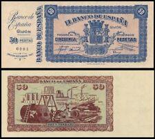 Facsimil Billete 50 pesetas septiembre 1937 Gijón - Reproduction