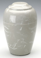 Grecian Gray Cultured Marble 190 Cubic Inches Funeral Cremation Urn For Ashes