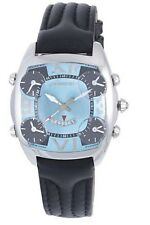 Chronotech Men's CT.7677M/01 Chronograph Blue Dial Black Leather Date Watch