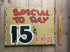 Vintage original Coney Island amusement park metal sign (20