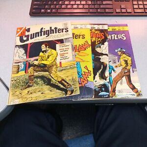 Gunfighters 51 67 76 77 Charlton Bronze Age Comics Lot Run Set Collection...