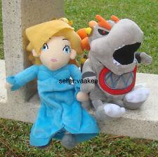 2Pcs Super Mario Bros Plush Toy Princess Rosalina Baby Dry Bowser Koopa Son Doll