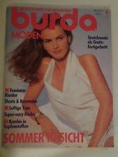 BURDA MODEN von MAI 1991 mit alle Schnittmuster.