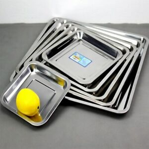 1PCS Square stainless steel plate barbecue plate chassis tray baking tray