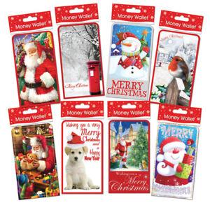 Packs  CHRISTMAS EASTER BIRTHDAY Money Wallets Gift Voucher Presents 1,4, 6 CASH