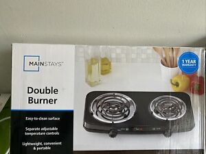 Portable Cooking Stove Mainstays Double Burner 1800W Hot Plate Electric Burner D