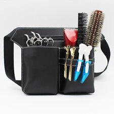 PU Leder Scherentasche Friseurtasche Werkzeugtasche Schere & Kamm Tasche + Gurt