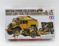 Tamiya Model 35044 1/35 British 25 Pdr Field Gun & Quad Tractor Vehicle Truck