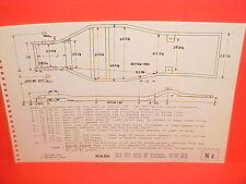1952 1953 NASH AMBASSADOR STATESMAN CUSTOM COUNTRY CLUB FRAME DIMENSION CHART