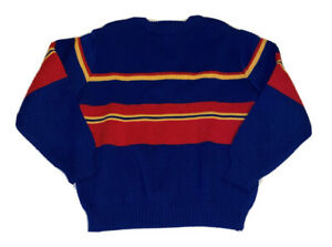 Boys Vintage BSR Sweater Blue Red 7