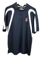 Antigua Polo Shirt Chief Wahoo Cleveland Indians MLB Size M