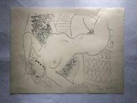"""Henri Matisse """" Nu Renversé """", Cahiers D'Art 45X60 On Japon 1960"""