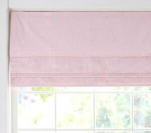💖 ‡ NEW IN BOX! ‡ Pottery Barn Kids Blackout Roman Shade Gingham Pink 32 x 64