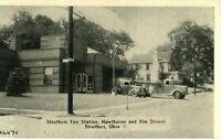 Vintage (1920s) Struther's Fire Station Old Engines Elm St. Ohio Photo Postcard