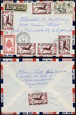 Kambodscha Khmere 1959 Luftpost Brief Garuda von Sihanoukville in die USA / 15