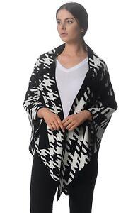Kit and Ace Black Ivory 100% Cashmere Triangle Pashmina Shawl Wrap Cape $350 NWT