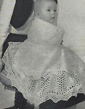 Baby Vintage Heirloom Shawl Knitting Pattern  Circular 2ply 758