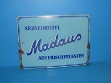 """Emailschild Werbeschild Arzneimittel """" Madaus Frischpflanzen  """" Köln 51 x 38 cm"""
