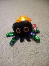Ty Beanie Boos Glint The Spider Sequin Reg Plush Animal Toys 15cm