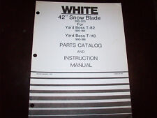 """White 42"""" Snow Blade Operator's Manual for T-82 T-110 Riding Mower"""