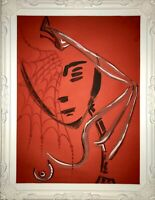 Margarita Bonke Malerei PAINTING erotic EROTIK FRAU A3 WOMEN art Rot Red Nu Akt