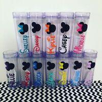 Personalised Disney Font Custom Name vinyl Sticker water bottle  stickers UK