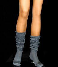 12 Charcoal Slouch Knee Socks school soccer hooters uniform flaw athleisure run