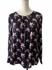 Gerry Weber Floral Long Sleeve Blouse Top Size UK 12 EU 38 100% Viscose