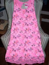 "NWT FRESH PRODUCE "" PARADISE "" CROSSBACK TANK  DRESS ON PINK.FLATTERING ...(L)"