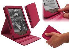 Amazon Kindle 4 De Lujo luxfolio Pu Cuero Doble Flip Stand Funda Protectora-Rosa