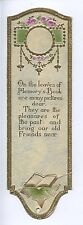 (AB79)  On The Leaves Of Memory's Book, Bookmark - Slight Crease at the Bottom