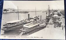 Nomadic Tender To Titanic and Olympic White Star Line at Cherbourg (third along)