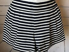 J CREW 00 shorts nautical white navy blue 1950's style pin up COSTUME cosplay
